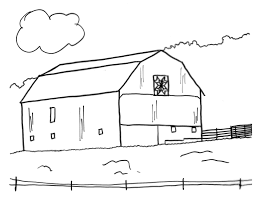 Free Barn Coloring Pages 1 Within Barn Coloring Pages Coloring