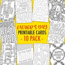 Need a father's day greeting card with no time to run to the store? Father S Day Coloring Cards 10 Pack Sarah Renae Clark Coloring Book Artist And Designer