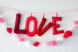 stuffed felt letters diy for valentines