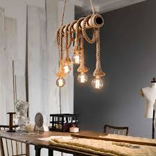 Loft Living Led String Lights Us 10 65 60 Off Vintage Rope Pendant Light Lamp Loft Creative Personality Industrial Lamp For Living Room Restaurant Coffee Ba Decoration In Pendant
