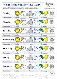 Printable Weather Forecast Table Chart Weather Activities