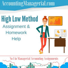 high low method managerial accounting assignment help high low  high low method assignment homework help