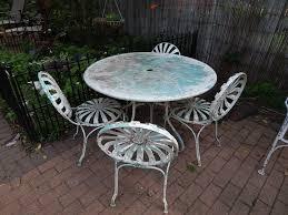 vine 1930 s 1940 s 9 piece wrought iron patio furniture set