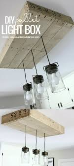 diy kitchen lighting. Give Your Kitchen Lighting Some Rustic Style With This Simple DIY Pallet Wood Light Box. Diy I