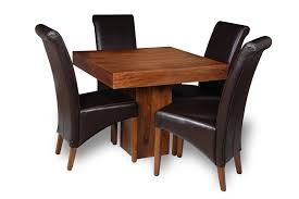 brown dining chairs. Small Dakota Cube Dining Table \u0026 4 Leather Rollback Chair Brown Chairs