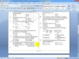 Ms Word Test Questions And Answers Question Paper Generator Create Test Paper Youtube