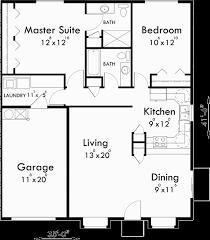 Home Design  87 Excellent 2 Bedroom Bath Floor PlanssFloor Plans With Garage