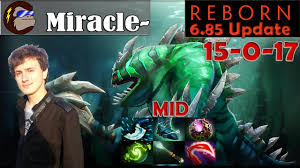 miracle tidehunter mid pro gameplay 15 kills 0 deaths dota 2