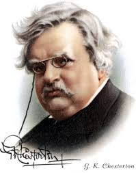 g k chesterton s a piece of chalk