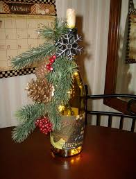How To Decorate A Bottle Of Wine Wine Bottle Christmas Decorations DIY Christmas Decor Letter 50