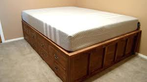 platform bed frames with storage build frame how to a drawers king size