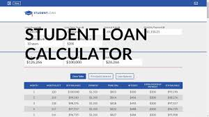 Loan Calculator For Student Loans Analyze Your Student Loans