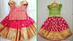 Full Blouse Designs For Children S Pattu Langa Blouse Designs For Kids Top Lehenga Designs