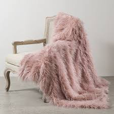picture 8 of 38 fur blanket throw unique best home fashion pink