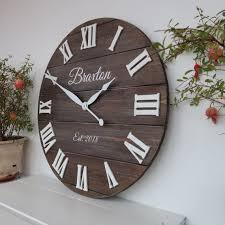 24 personalized rustic clock large wall