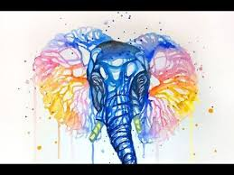 colorful elephant drawings. Beautiful Colorful Watercolor Painting  Colorful Elephant  Techniques Throughout Drawings U