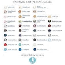 Pearl Color Chart Swarovski Pearl Cluster Earrings Alison Kelley Designs