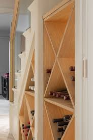 modern wine rack furniture. View In Gallery Simple Wine Storage Idea For The Small Space Under Modern Staircase [Design: Nash Rack Furniture