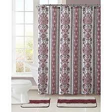 burgundy shower curtain sets. essential home 15-piece hayden bath set - burgundy shower curtain sets