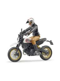 <b>Мотоцикл Scrambler Ducati</b> Desert Sled с мотоциклистом <b>Bruder</b> ...