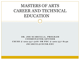 Designated Subjects Vocational Education Teaching Credential Ma In Career And Technical Education Power Point