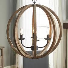 stanton 4light globe chandelier wood orb chandelier c86