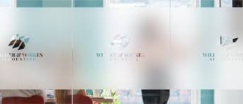 custom frosted window decals
