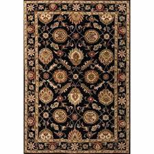 rugs hand tufted oriental pattern wool black red area rug baton rouge room scene persian animal
