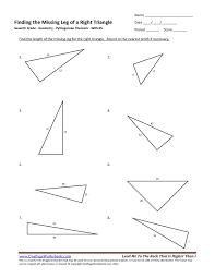 Seventh Grade Pythagorean Theorem Worksheet 05 – One Page Worksheets