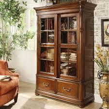 Glass Bookshelf Amazoncom Riverside Furniture Bristol Court Sliding Door