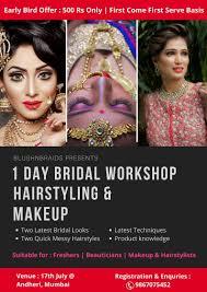 1 day bridal hairstyling makeup work mumbai