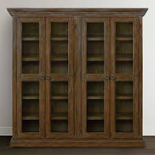 Hutch Display Cabinet Tall Wood Double Display Cabinet