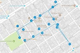 self guided garden district tour map
