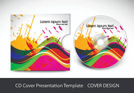 Cd Cover Presentation Vector Template Material 03 Free Download