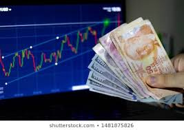 Dollar Lira Chart Turkish Lira Dollar Rate Chart Images Stock Photos