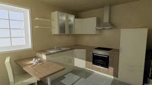 Küche Mit Tisch Kuche Integriertem Regal Hoch Moderne Und Wels