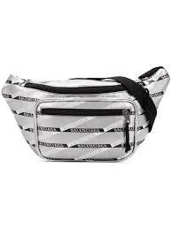 Mens Designer Belt Bag Balenciaga Explorer Belt Pack Silver Balenciaga Fendi