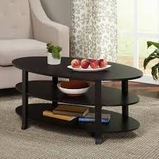 apartments furniture accessories cool oval black painted wood coffee table coffee table design ideas