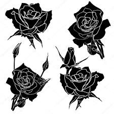 эскизы татуировок роза татуировка роза цветок стоковое фото