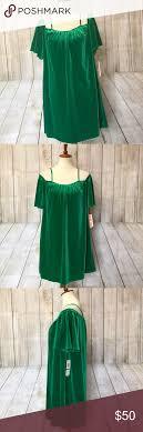 Green Velvet Look Dress By Gb Nwt Velvet Look Green Dress