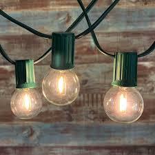 100 Light Warm White C9 String Set 100 Ft Green C9 String Light With Led G40 Vintage Warm White Bulbs