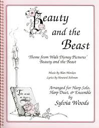 beauty and the beast sheet music harp sheet music beauty and the beast 1 or 2 harps harp flute