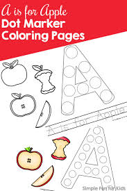 Homely Ideas Marker Coloring Pages A Is For Apple Dot Day 1 Of