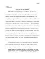 don quixote essay on chivalric code professor leither seminar 7 pages don quixote essay
