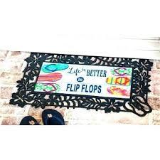 recycled flip flop door mat how to make mats flops rug doormat doormats home garden flip flop frenzy doormat polyester welcome