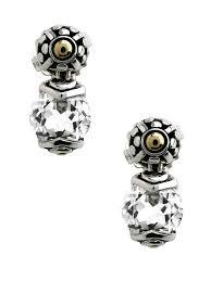 john hardy batu sari white topaz round drop earrings