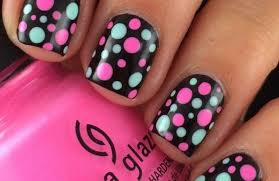 Nail Art Designs Pink And Black Hession Hairdressing