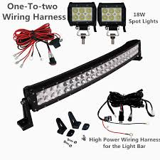 sldx 26 039 039 144w curved led light bar 2pcs 18w spot light image is loading sldx 26 039 039 144w curved led light