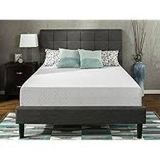 mattress 12 inch. zinus 12 inch gel-infused green tea memory foam mattress, queen mattress b