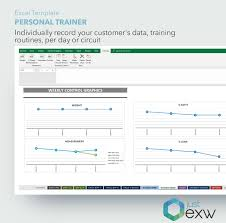 Personal Training Chart Personal Trainer Template